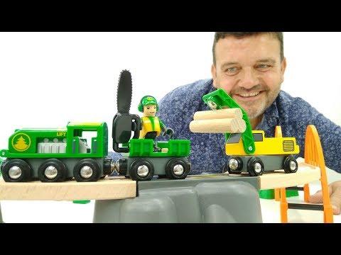 Trenes infantiles. Juguetes nuevos: ferrocarril de juguete Brio