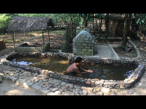 Primitive Life:Relaxing-Pool with Fishs!