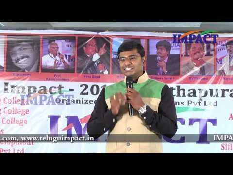 Skills |KVN Karthik| TELUGU IMPACT Anantapur 2016