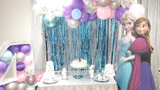 Frozen Party Theme || DIY Frozen Birthday Party Decorations || Quarantine Birthday Decoration Ideas