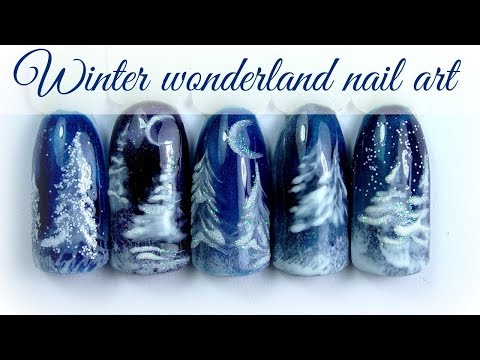 ❅ Winter Wonderland Nail Design ❅ Christmas Trees  #XmasWebinar