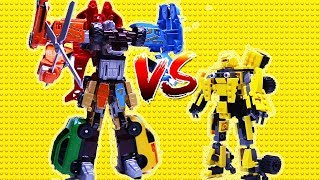 Transformers Stop Motion - Bumblebee, Super Wings, Tobot w/ Lego Animation Robot car for kids