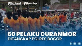 BREAKING NEWS: Polres Bogor Ringkus 60 Pelaku Curanmor, Ratusan Kendaraan Jadi Barang Bukti