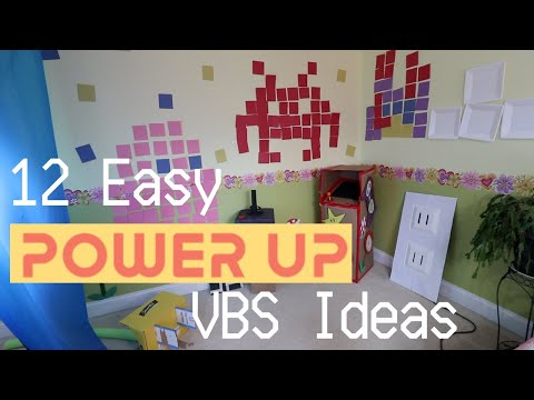 12 Easy Power Up VBS Decoration Ideas   DIY + Inexpensive   Tutorial Tuesday Ep. 80