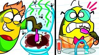 Good Kid vs Bad Kid | Funny Cartoon by Avocado Couple