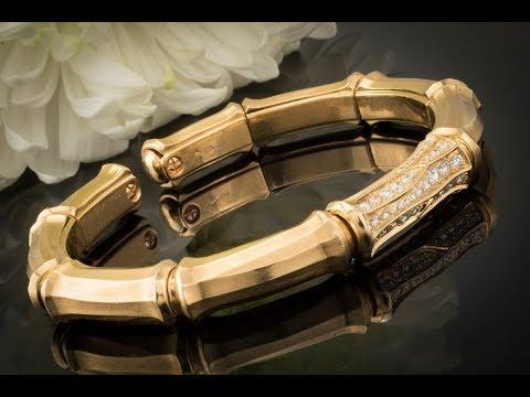 schmuckgebiet - Cartier Bamboo Armreif Bracelet mit Brillanten Armspange in 750er Gold
