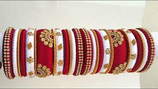My over all silk thread bridal bangles set collection part -5