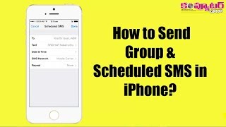 How to Send Group and Scheduled SMS in iPhone?