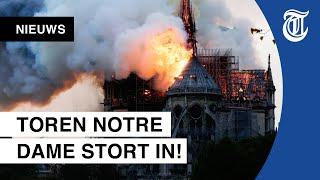 Grote Brand Verwoest Beroemde Notre-Dame