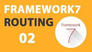 02 Framework7 V2 Router Tutorial: Passing URL-Parameters