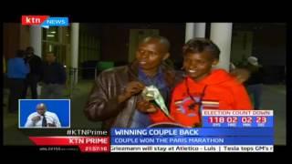Paris marathon winning couple return back to Kenya