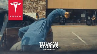 GRAND THEFT AUTO FAN STEALS A CAR - OWNER CAUGHT HIM IN THE ACT   TESLACAM STORIES #75