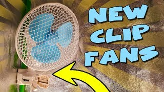 NEW OSCILLATING CLIP FANS - For Grow Tents - By Vivosun