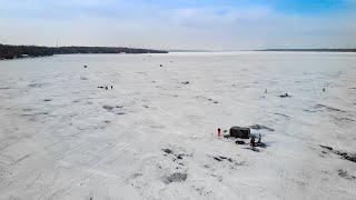 Ice Fishing on Lake Couchiching Jan 7, 2021