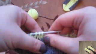 Следки спицами с подошвой плетенки