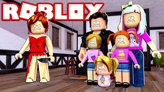 Happy Roblox Family | Survive The Red Dress Girl!