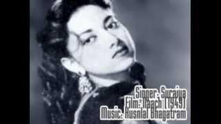 Tere Gham Ke Sahare-Suraiya-Naach (1949).flv - YouTube