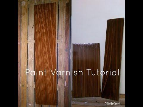 Wood grain effect.Paano gumawa ng HASPE tagalog - Paint Varnish Tutorial
