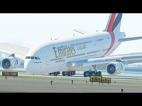 A380 Front Gear Failure Emergency Landing - X-Plane 11