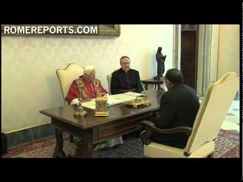 Pope welcomes Honduras President, Porfirio Lobo Sosa