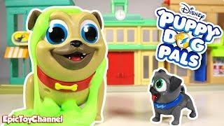 DISNEY PUPPY DOG PALS Surprise Action Bingo & Surprise Action Rolly Puppy Dog Pals Toys