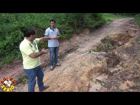 Vereadores Ginho e Chiquinho mostram o perigo da Estrada Monjolo Cachoeirinha e mostra a Vala Gigante.