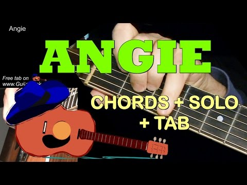 Angie: Chords + Solo + Tab! Guitar Lesson By Guitarnick Chords
