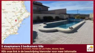 preview picture of video '5 slaapkamers 3 badkamers Villa in Hondon De Los Frailes, Alicante'