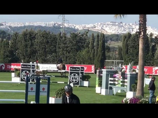 Grandmother international jumping horse Kigali v/d Bisschop, riderJerome Guery.
