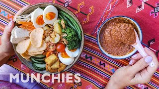 Gado Gado: Indonesian Salad With Peanut Dressing