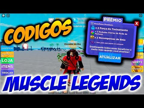 ROBLOX  Muscle Legends  Cdigos SECRETOS ATUALIZADOS 2021 e BENEFCIOS da Conta PREMIUM