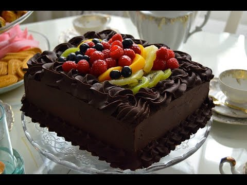 Video chocolate cake