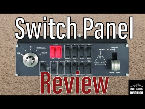 Logitech Saitek Flight Switch Panel Review (FSX PC)