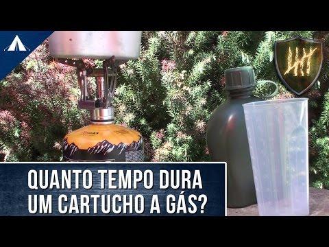 Cartucho de Gás para fogareiro: Teste de autonomia