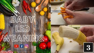 BABY LED WEANING - How to cut foods appropriately.
