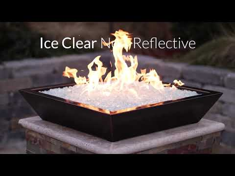 Ice Clear Non Reflective Fire Glass | BBQGuys Signature Series
