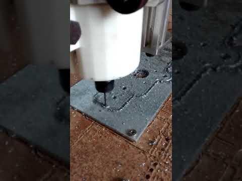 Ox CNC teste de corte em alumínio de 3mm