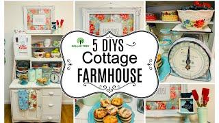 5 DOLLAR TREE DIY COTTAGE FARMHOUSE DECOR CRAFTS 🎀CUTE VINTAGE SCALE Olivias Romantic Home DIY