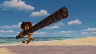 DreamWorks Madagascar En Español Latino   En El Clip De Playa - Madagascar   Dibujos Animados