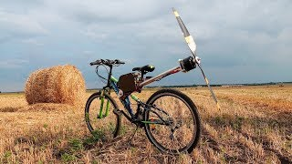 bike with meter propeller - zombie apocalypse bike
