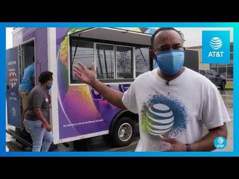 AT&T Employees in Lake Charles Are Assisting the Community | AT&T-YoutubeVideoText