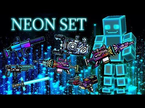 Pixel Gun 3D - Neon Set