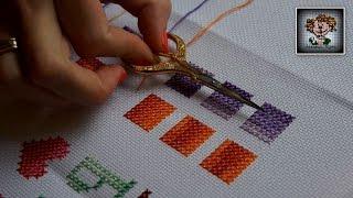 Смотреть онлайн Особенности вышивания крестиком меланжем