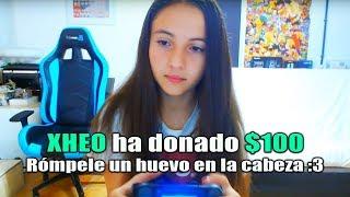Donando Dinero a Streamers Por Tirarle un Huevo En La Cabeza a Su Hermana...