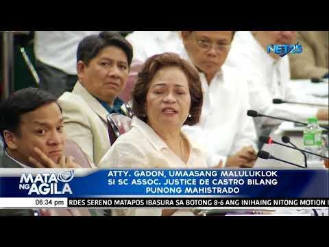 [EagleNewsPH]  Atty  Gadon, umaasang maluluklok si SC Assoc  Justice De Castro bilang Punong Mahistrado