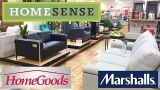 HOME SENSE HOMEGOODS MARSHALLS FURNITURE SOFAS ARMCHAIRS SHOP WITH ME SHOPPING STORE WALK THROUGH