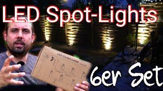 Spot-Light Gartenbeleuchtung | 6 LED Spots je 3Watt/ 300Lumen | Schutzart IP65 - Strom-Stecker IP44