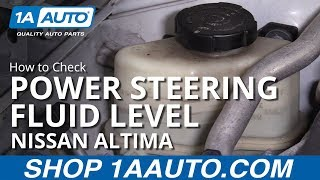 How to Check Power Steering Fluid Level 06-12 Nissan Altima