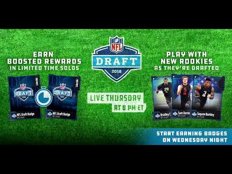 NFL Draft Promo Teaser   Earn Badges Tonight!   MUT 18