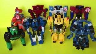 Трансформеры роботы под прикрытием! Роботы превращаются в машинки! Transformers Robots in Disguise!